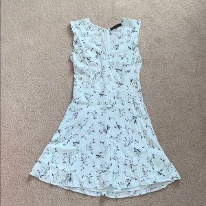 Dynamite // Mint Floral V-Neck Dress